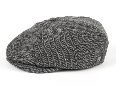 Brixton Brood - Grey Herringbone