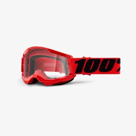 100% Strata 2 Goggles - Red