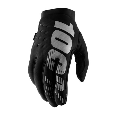 100% WM Brisker Glove - Black/Grey