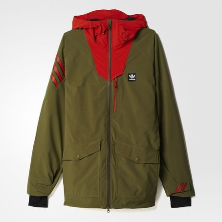 Adidas Major Stretchin It Jacket - Olive/Craft Chilli