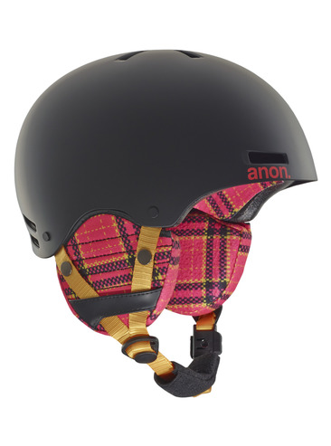 Anon Rime Kids Helmet - Flannel Black