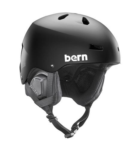 Bern Macon Audio Helemt - Matt Black