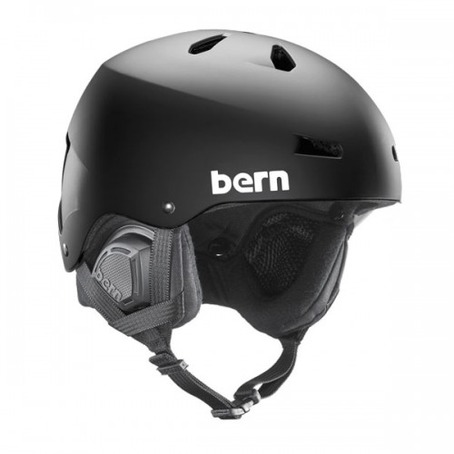Bern Macon Helmet - Matt Black with Audio Liner
