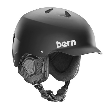 Bern Watts EPS Audio Helmet - Matt Black