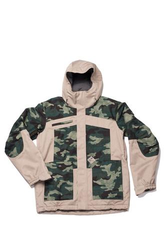 Bonfire Weber Jacket Print - Camo/Shale