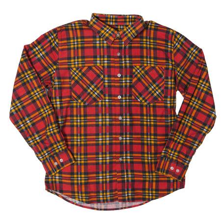 Brixton Bennett Shirt - Red/Gold