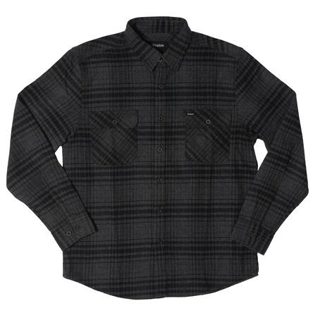 Brixton Bowery Shirt - Black/Heather Charcoal