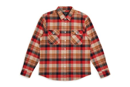 Brixton Bowery Shirt - Red/Copper