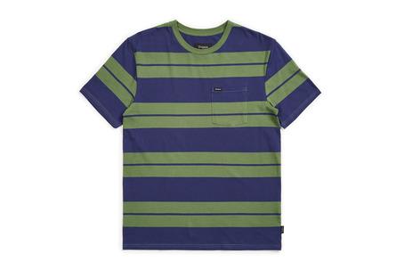 Brixton Hilt Knit T-Shirt - Leaf/Patriot Blue