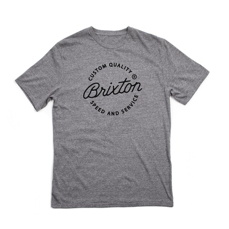 Brixton Newport Premium T-Shirt - Heather Grey