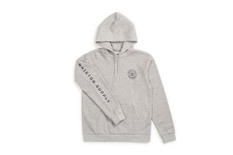 Brixton Oath Hood - Heather Grey