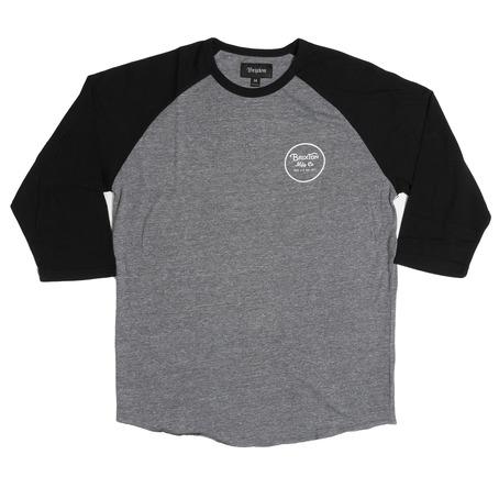 Brixton Wheeler 3/4 Sleeve - Black/Grey