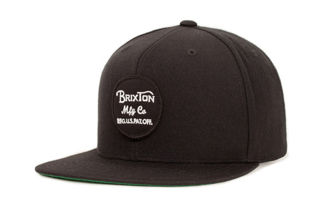 Brixton Wheeler Snapback Cap - Black