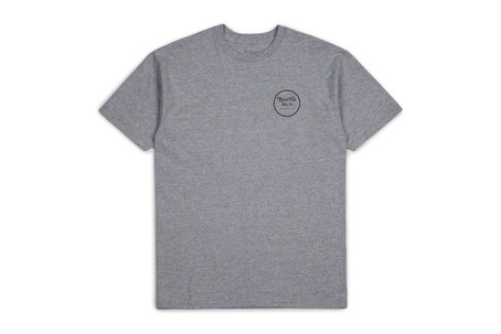Brixton Wheeler T-Shirt - Heather Grey
