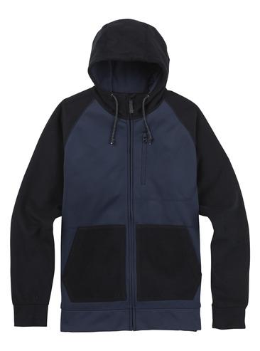 Burton Bonded Full Zip Hood - Mood Indigo Twill