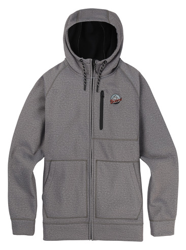 Burton Crown Full Zip Hood - Monument