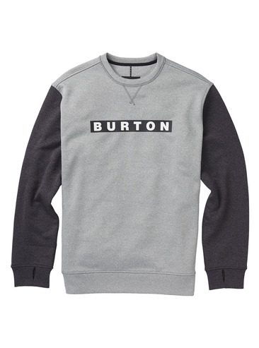 Burton Oak Crew - Heather/True Black