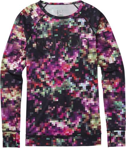 Burton Womens Lightweight Crew - Floral Pixel