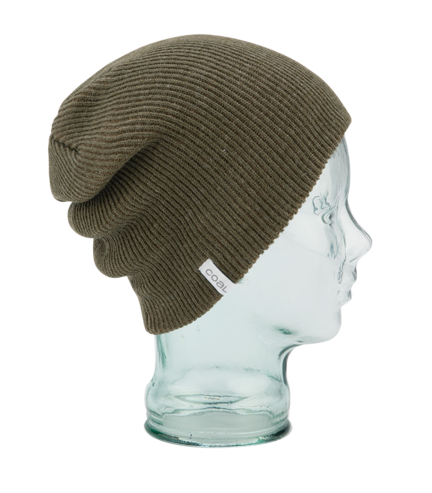 Coal Binary Beanie - Heather Olive