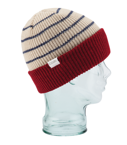 Coal Lucas Beanie - Dark Red