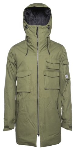 Colour Wear Cargo Parka - Loden