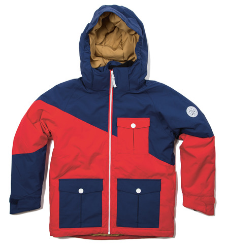 Colour Wear Drop Jacket - Navy/Red