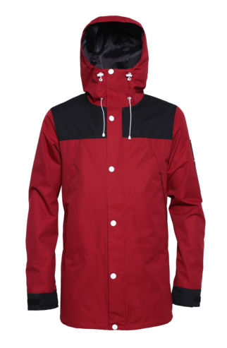Colour Wear Rock Jacket - Burgundy
