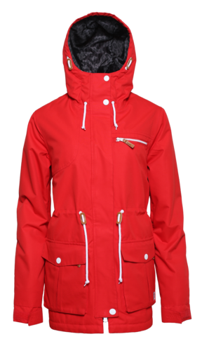 Colour Wear UP Parka - Red