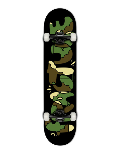 FRACTURE X YEH COOL CAMO COMPLETE SKATEBOARD - 7.375