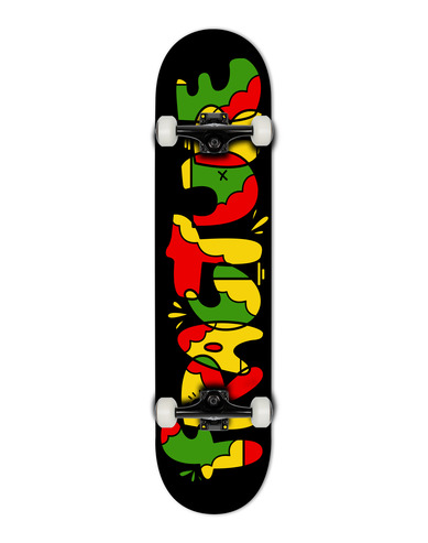 FRACTURE X YEH COOL RASTA COMPLETE SKATEBOARD - 7.75