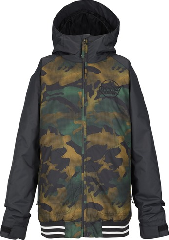 Burton Game Day Kids Jacket - True Black/Hickory Camo