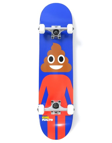 GIRL SEAN MALTO POOP HEAD COMPLETE SKATEBOARD - 7.625