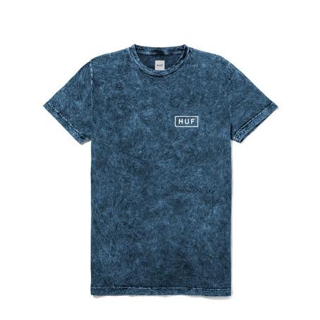 Huf Acid Wash Bar Logo T-Shirt - Blue