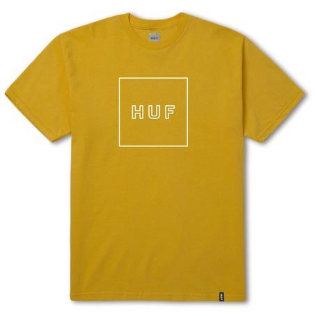 Huf Box Logo Puff T-Shirt - Mustard