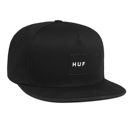 Huf Box Logo Snapback Cap - Black