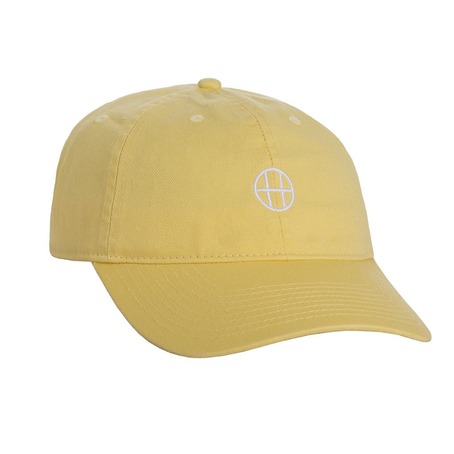 Huf Circle H Curve Dad Hat - Baby Yellow