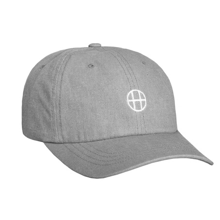Huf Circle H Curve Visor 6 Panel Cap - Grey