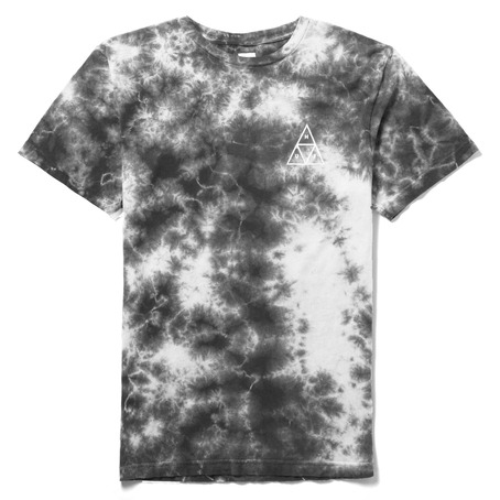 Huf Crystal Wash Triple Triangle T-Shirt - Cool Grey/White