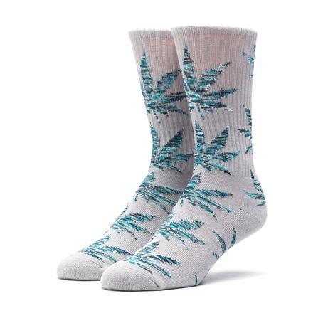 Huf Plantlife Socks - Grey Heather/Blue