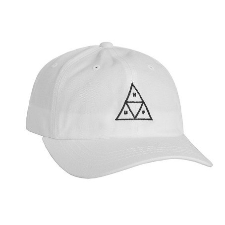 Huf Triple Triangle Curve Dad Hat - White
