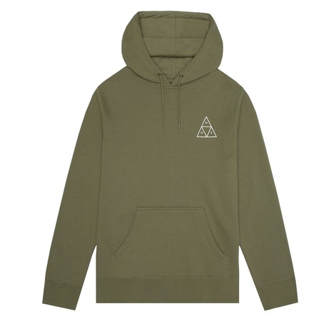 HUF TRIPLE TRIANGLE PULLOVER HOOD - LODEN