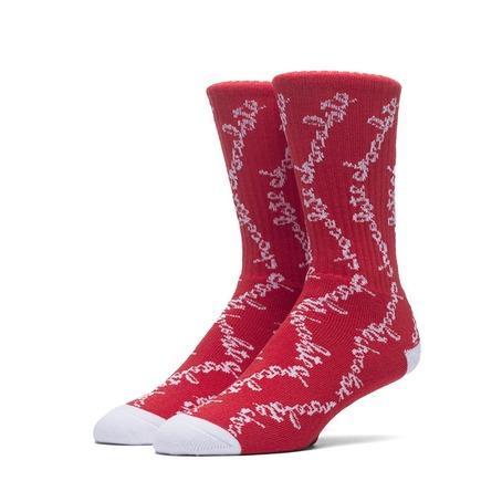 HUF X Chocolate Chunk Socks - Red