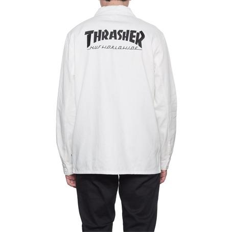 Huf X Thrasher Chore Jacket/Shirt - Off White