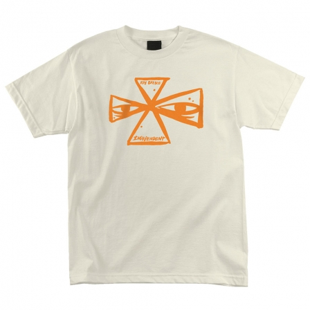 Independent x Ray Barbee Cross T-Shirt - Cream