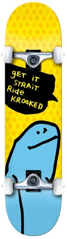Krooked Shmoo Skateboard - 7.75