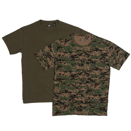 Levis 2 Pack T-Shirts - Camo/Ivy Green