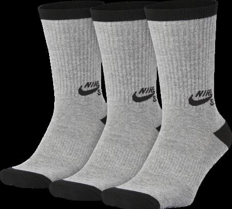 Nike SB Crew Socks - Heather Grey/Black