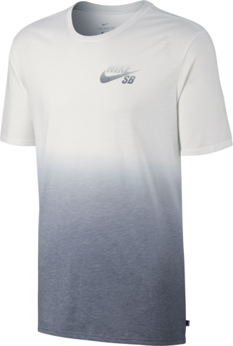 Nike SB Dip Dye T-Shirt - White/Cool Grey