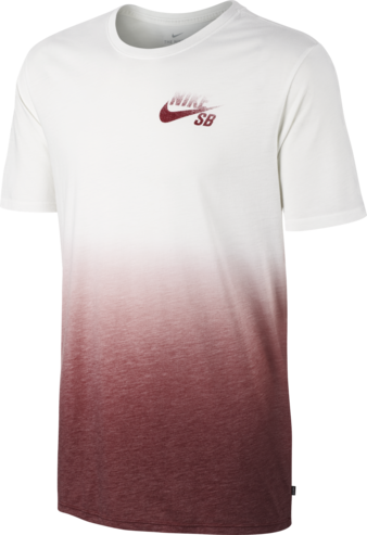 Nike SB Dip Dye T-Shirt - White/Team Red
