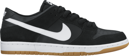 Nike SB Dunk Low Pro - Black/White/Gum